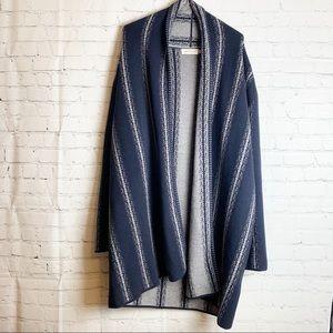MOSNOVA Poncho Sweater Gray and Blue XL